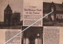 IN 'T HAGELAND.1936.SINT-MARTENS-THIELT(WINGE) EN ZIJN PASTOOR EERW. HEER DOCKX(° BORGERHOUT) MET EEN OORLOGSVERHAAL - Vieux Papiers