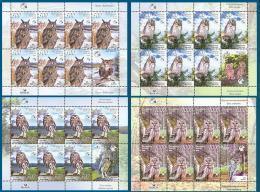 Belarus 2008 Mih. 750/53 Fauna. Birds. Owls (4 M/S) MNH ** - Bielorussia