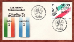 Beleg, Fussball-Weltmeisterschaft Mexico, SoSt Italien-Argentinien, 1986 (82161) - Mexiko