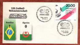 Beleg, Fussball-Weltmeisterschaft Mexico, SoSt Brasilien-Algerien, 1986 (82162) - Mexiko