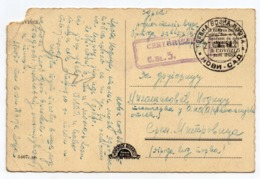 1945 YUGOSLAVIA, SERBIA, NOVI SAD TO MITROVICA, MILITARY POST OFFICE, CENSORED, NO. 5, USED ILLUSTRATED POSTCARD - Serbia