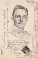 Unser Kronprinz, Federzeichnung, Kleines Foto Von Junger Frau Mit Autogramm, Gel.um 1915, Sehr Seltene Karte - Königshäuser