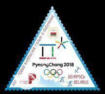 Belarus 2018 Mih. 1234 Olympic Winter Games In Pyeongchang. Biathlon. Cross-Country Skiing. Freestyle MNH ** - Bielorussia