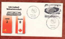 Beleg, Fussball-Weltmeisterschaft Mexico, SoSt Sowjetunion-Kanada, 1986 (82164) - Mexiko