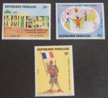 "TOGO YT 1087/1089 NEUF**MNH  ""VISITE DU PRÉSIDENT FRANCOIS MITTERRAND""ANNÉE 1983 - Togo (1960-...)"