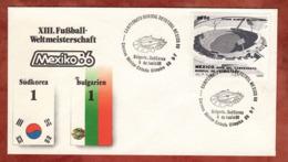 Beleg, Fussball-Weltmeisterschaft Mexico, SoSt Suedkorea-Bulgarien, 1986 (82166) - Mexiko