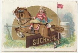 CHROMO Chocolat SUCHARD   +/- 1892    Serie 29     Scènes De Genre  Hippisme   Trade Card  Jumping - Suchard