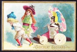 CHROMO Chocolat SUCHARD   +/- 1892    Serie 29     Scènes De Genre  Avec Parasol Chinois Sur Charette   Trade Card - Suchard