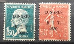 Frankreich 1930, B.I.T, Mi 249-50, Ungebraucht - France