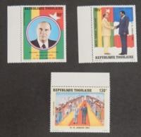 "TOGO YT PA 480/482 NEUF**MNH AVEC BDF ""VISITE DU PRÉSIDENT FRANCOIS MITTERRAND""ANNÉE 1983 - Togo (1960-...)"