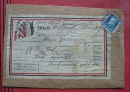 Feldpost: Päckchen-Ausschnitt Mit 20 Pf Prinzregent Rieschweiler An Inf. Reg. 22 - Bayern