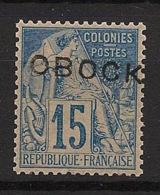Obock - 1892 - N°Yv. 15 - 15c Bleu - Très Bon Centrage - Neuf Luxe ** / MNH / Postfrisch - Obock (1892-1899)