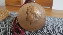 10. Deutsches Sängerbundesfest Wien 1928 - Franz Schubert - Große Bronze-Medaille Von Karl Perl - Entriegelungschips Und Medaillen