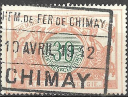 P0.47: CHIMAY 10 AVRIL 19 12: Privé-lijn: Chemin De Fer De CHIMAY: Raamstempel:  N°TR32 - Chemins De Fer