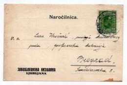 1930 YUGOSLAVIA, SLOVENIA, LJUBLJANA BOOKSTORE, MAIL ORDER CORRESPONDENCE CARD, - 1945-1992 Socialist Federal Republic Of Yugoslavia