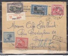 Expres Briefstuk Van Bandundu Postes Naar Bruxelles (Belgique) Avion - 1894-1923 Mols: Lettres