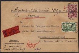 BERLIN / 1928 WERTBRIEF NACH STRASSBURG - ELSASS (ref 6732c) - Briefe U. Dokumente