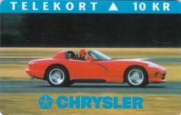 Denmark, P 014B, Mint, Chrysler, Only 1000 Issued, Car, 2 Scans. - Dänemark