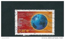 N° 3532 Le Monde En Réseau  Timbre France 2002 Oblitéré 0.46 € - France