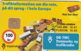Denmark, DD 216, Vejdirektoratet, Cars, 40475 Issued, 2 Scans. - Dänemark