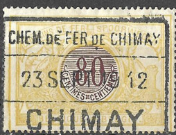 P0.48: CHIMAY 23 SEPT 19 12: Privé-lijn: Chemin De Fer De CHIMAY:  3 Raamstempel:  N°TR39 - Railway