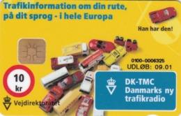Denmark, DB 062, 10kr, Vejdirektoratet, Cars, Only 1500 Issued, 2 Scans. - Dänemark