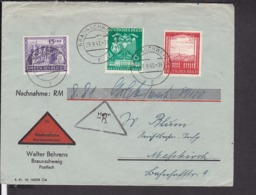 Nachnahme Brief Deutsches Reich  1941 , Behrens Brauschweig - Briefe U. Dokumente