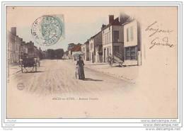 10) Arcis Sur Aube.- Avenue Grassin - (belle Animation - Oblitération De 1905) - Arcis Sur Aube
