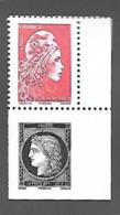 """France 2019 - Céres Noire & Marianne L'engagée ** (issus Du Carnet """" Salon D'Automne"""") - Unused Stamps"""