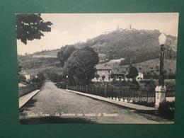 Cartolina Salice Terme  - La Stazione Con Veduta Di Nazzano - 1930 - Pavia