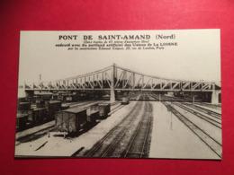 Excellent état Gare Train Le Pont De Saint Amand Les Eaux Nord Exécuté Avec Portland Des Usines De La LOISNE - Saint Amand Les Eaux