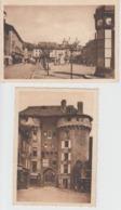 Lot De 2 CPSM Marvejols - Place Thiers / Porte De Chanelles - Marvejols