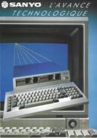 Publicité Ordinateurs Sanyo Série 550, Ca 1981 - Technical