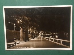 Cartolina San Remo - Viale Imperatrice - Notturno - 1942 - Imperia