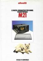 Publicité Micro-ordinateur Personnel Tansportable Olivetti M21, Ca 1981 - Scienze & Tecnica
