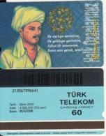 TURKEY - Halk Ozanlarimiz/Yunus Emre(60 Units, Plasteknik), 10/00, Used - Turquie
