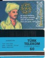TURKEY - Halk Ozanlarimiz/Yunus Emre(60 Units, Abacicard), 10/00, Used - Turquie