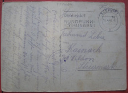 Feldpost: Ansichtskarte Von Nachschub? (OT: Gleiwitz) Nach Kainach Bei Wildon 1940 - Storia Postale