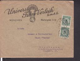 Brief Deutsches Reich  Reklame Universum Film München 1923 - Deutschland