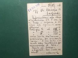Cartolina Ghinassi Virgilio - Ravenna - Rappresentante Industria Del Vetro- 1919 - Cartoline