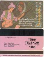 TURKEY - Halk Ozanlarimiz/Karacaoglan(100 Units, Plasteknik), 10/00, Used - Turquie