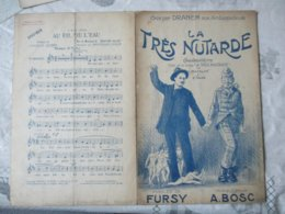 """LA TRES NUTARDE CHANSONNETTE TIREE DE LA DANSE """"LA TRES MOUTARDE"""" PAROLES DE FURSY MUSIQUE A. BOSC 1913 ET 1914 - Noten & Partituren"""