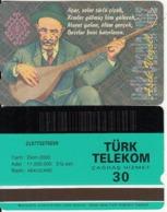 TURKEY - Halk Ozanlarimiz/Asik Veysel(30 Units, Abacicard), 10/00, Used - Turquie