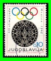 YUGOSLAVIA SELLO AÑO 1968 - 1945-1992 República Federal Socialista De Yugoslavia