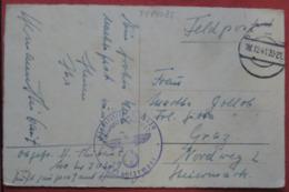 Feldpost: Ansichtskarte Von Luftgaupostamt Hamburg I Mit Tarnstempel Nach Graz 1941 - Allemagne