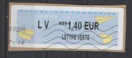 2016  LV  *** Lettre Verte   1.40 - 2000 «Avions En Papier»