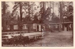 Seltene ALTE  Foto- AK   FRIEDRICHSHAGEN / Berlin  - Erholungsheim St. Albertus - 1933 Gelaufen - Treptow