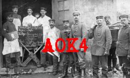 Landsturm Infanterie Regiment 606 608 Krefeld Crefeld 1917 Küche Feldgrau Pickelhaube VII Armeekorps Menü - Guerre 1914-18