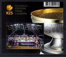 2017 Slovenia - Basketball - Slovenian Team Is The European Champion - MS MNH**  MiNr. 1284 (Block 103) - Basket-ball
