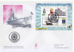 "2011 - FDC "" 150° ISTITUZIONE MARINA MILITARE "" VENETIA VEDI++++ - 6. 1946-.. Republic"